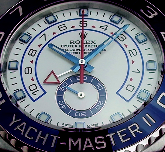 Rolex Yachtmaster 2 White Dial Bezel Detail 116689