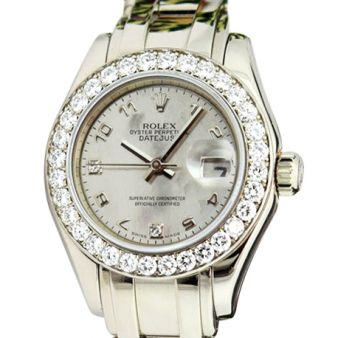 Rolex Datejust Pearlmaster Goldust Mother of Pearl Arabic Diamond 80299 Watch Chest
