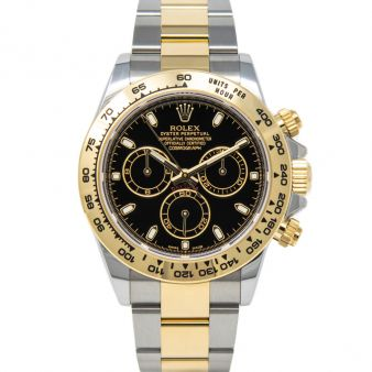 New Rolex Cosomograph Daytona 116203 Wristwatch Black Face Oyster Bracelet