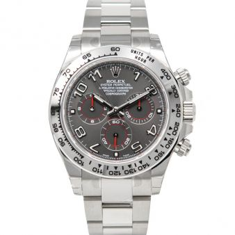 New Rolex Daytona 116509 Wristwatch Grey Arabic Face