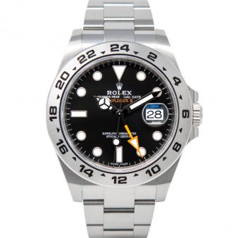 New Rolex Explorer II, Black Face, Steel, 216570