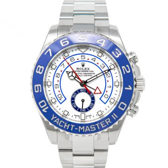 New Rolex Yacht-Master II 116680 Wristwatch White Face Oyster Bracelet