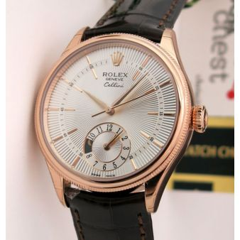 Rolex Cellini Dual Time Everose Gold 50525 Watch Chest