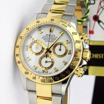 Rolex Daytona Watch White Diamond Dial 116523 Watch Chest