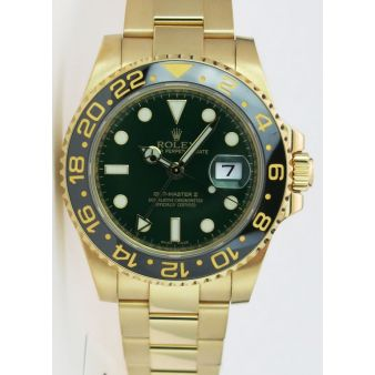 Rolex GMT Master II Yellow Gold Green Dial Ceramic 116718LN, Watch Chest