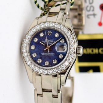 Rolex Datejust Pearlmaster Sodalite Diamond 80299 Watch Chest