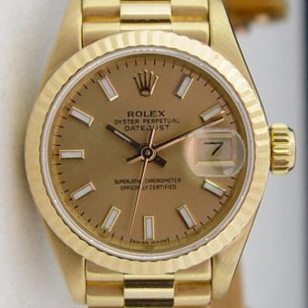 Rolex Lady President Champagne Bold Index 69178 Watch Chest