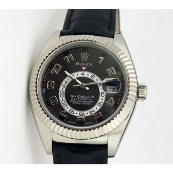 Rolex Sky Dweller White Gold Black Dial 326139 Watch Chest