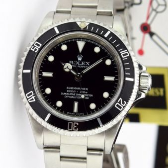 Rolex Submariner No Date Steel Black Dial 14060 Oyster Watch Chest