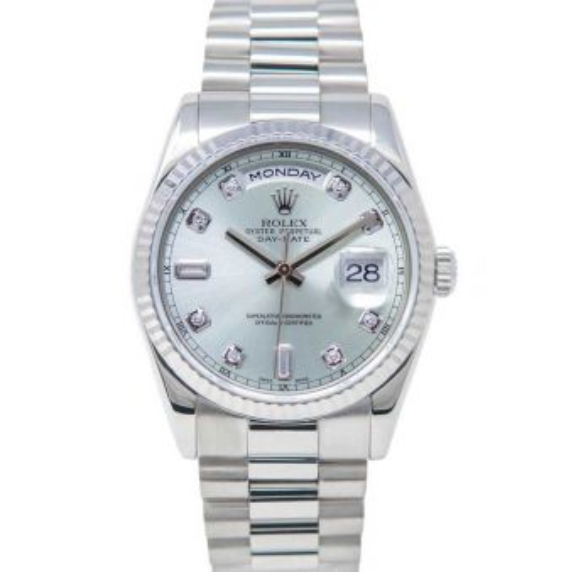 Rolex Day Date President 118239 Wristwatch Glacier Blue Diamond Face