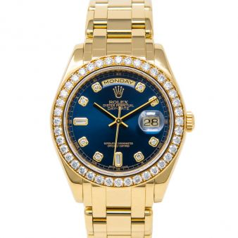 Rolex Day-Date Special Edition, Blue Diamond Face, Yellow Gold, 18948
