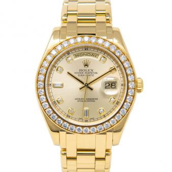 Rolex Day Date S.E. Pearlmaster 39 18948 Wristwatch Light Champagne Diamond Face