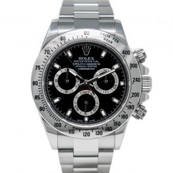 Rolex Cosmograph Daytona 116520 Wristwatch, Stainless Steel, Oyster Bracelet, Black Dial