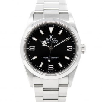 Rolex Explorer, Black Face, Steel, 114270
