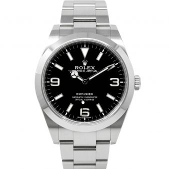 Rolex Explorer 214270 Wristwatch Black Face Oyster