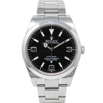 Rolex Explorer, Black Face, Steel, 214270