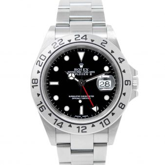 Rolex Explorer II, Black Face, Steel, 16570