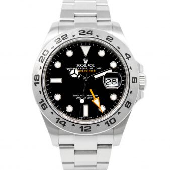 Rolex Explorer II, Black Face, Steel, 216570