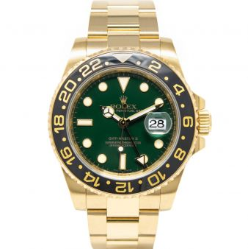 Rolex Men's GMT-Master II 116718LN Wristwatch, Oyster Bracelet, Green Dial