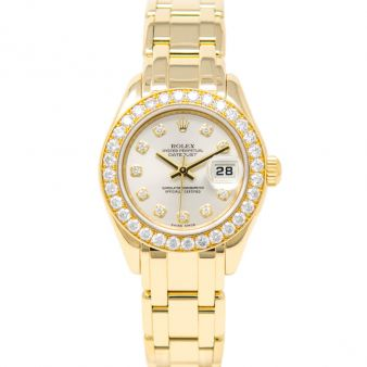 Rolex Lady Pearlmaster 39 80298 Wristwatch Silver Diamond Face