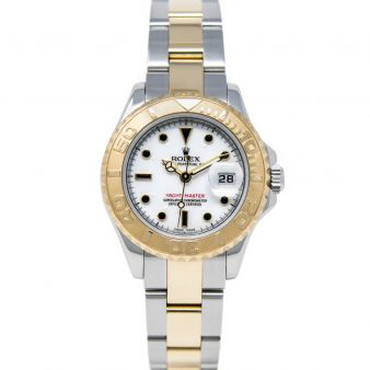Rolex Lady Yacht-Master 29 169623 Wristwatch, Oyster Bracelet, White Index Dial