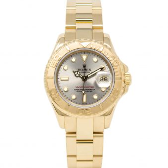 Rolex Lady Yacht-Master, Silver Face, Yellow Gold, 169628