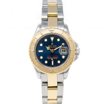 Rolex Lady Yacht-Master 69623 Wristwatch, Oyster Bracelet, Blue Bold Index Dial