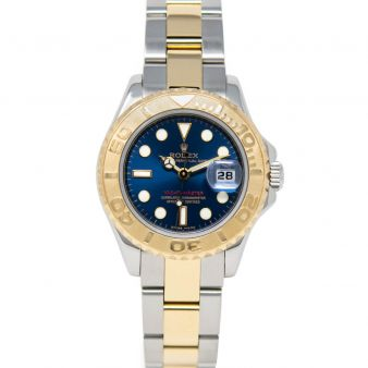Rolex Lady Yacht-Master 169623 Wristwatch, Oyster Bracelet, Blue Index Dial
