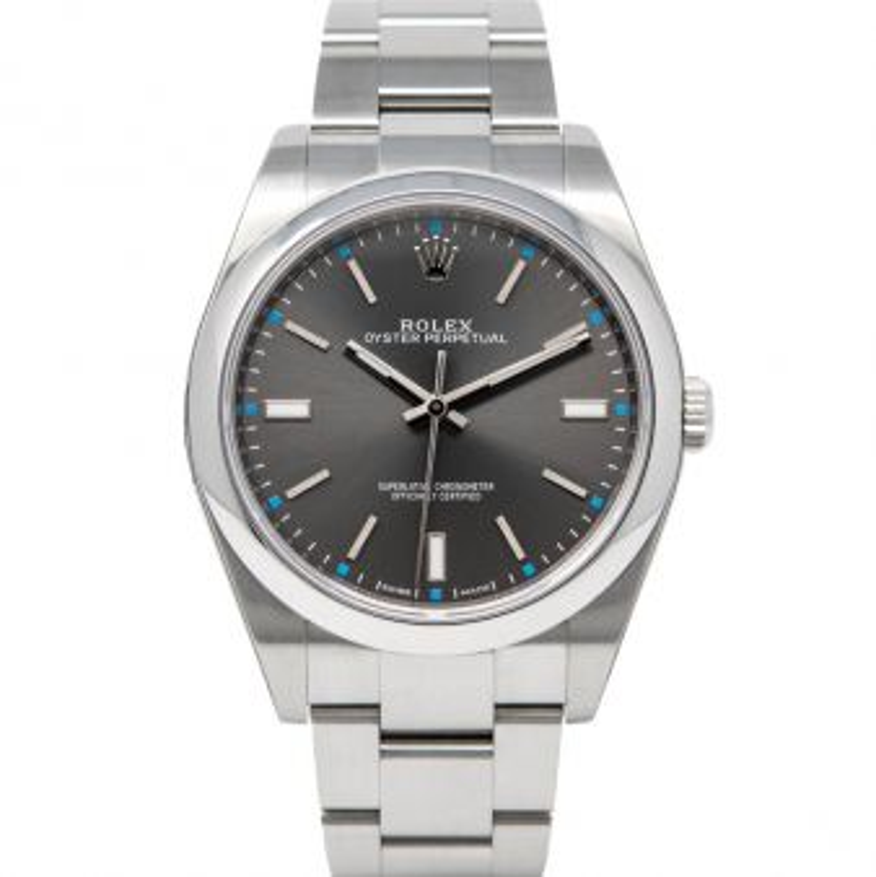Rolex Oyster Perpetual 114300 Wristwatch Dark Rhodium Face Oyster Bracelet