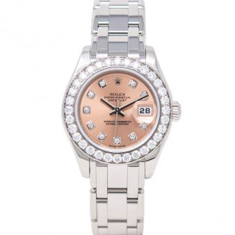 Rolex Pearlmaster 29 80299 Wristwatch Rose Diamond Face