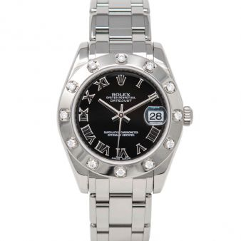 Rolex Pearlmaster 34 81319 Wristwatch Black Roman Face