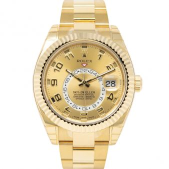 Rolex Sky Dweller 326938 Wristwatch Champagne Sunray Face