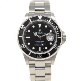 Rolex Submariner Black Face Stainless Steel 16610LN Watch Chest