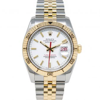 Rolex Datejust 36 Turn-O-Graph Thunderbird 116263 Wristwatch, Jubilee Bracelet, White Index Dial