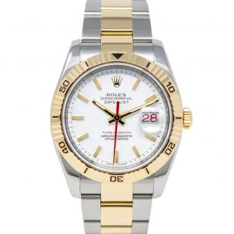 Rolex Datejust 36 Turn-O-Graph Thunderbird 116263 Wristwatch, Oyster Bracelet, White Index Dial