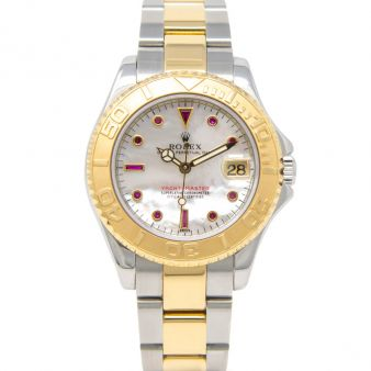 Rolex Women's Yacht-Master 168623 Wristwatch, Mother of Pearl Ruby Dial