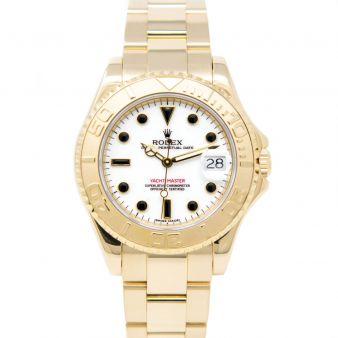 Rolex Yacht-Master 35 68628 Wristwatch, Oyster Bracelet, White Dial,