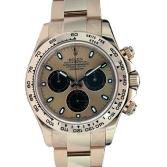 Rolex Cosmograph Daytona Rose Pink Gold Black Dial 116505 Oyster Watch Chest