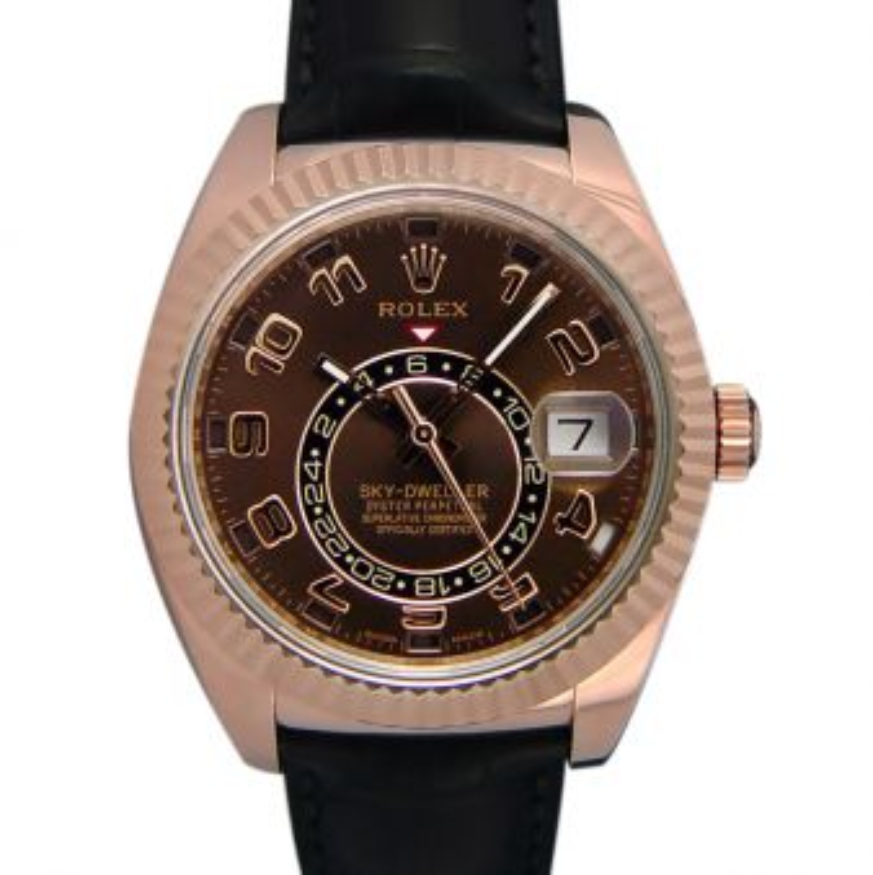 Rolex Sky Dweller Everose Gold Chocolate Dial 326135 Watch Chest