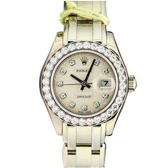Rolex Datejust Pearlmaster White Gold Silver Jubilee Diamond Dial Bezel 80299 Watch Chest