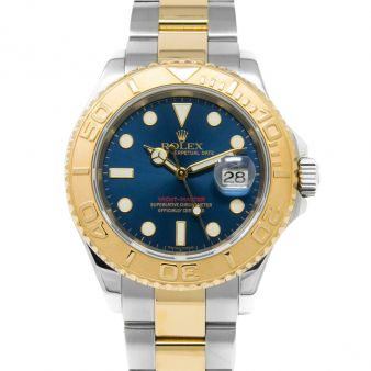 Rolex Yachtmaster Blue Dial Gold Steel 16623, Watch Chest