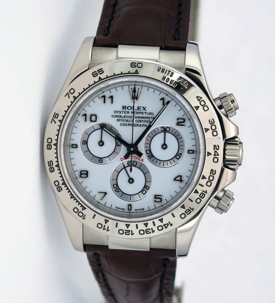 6f3f50faa14 Details about Rolex Daytona 18k White Gold White Arabic Dial 116519 WATCH  CHEST