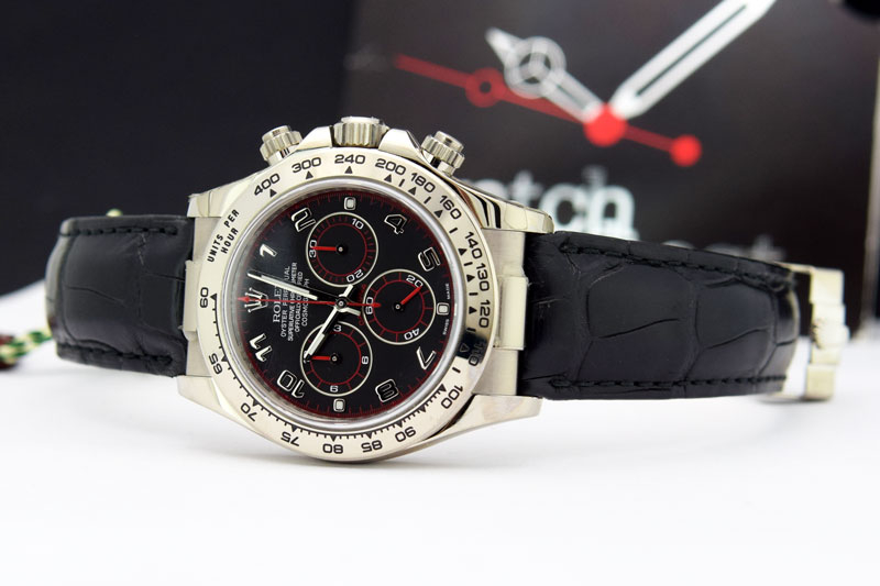 2c9df4524b3 Details about Rolex Daytona White Gold Black Arabic Dial 116519 Rehaut  WATCH CHEST