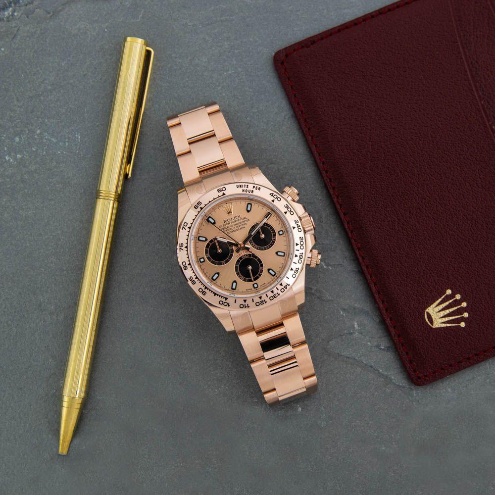 New Rolex Men S Cosmograph Daytona Watch Rose Gold Face 18k Rose