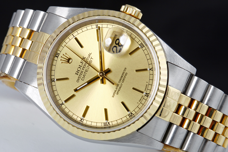 Men's Rolex Datejust Two Tone Stainless Steel Watch