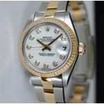 Rolex Lady Datejust White Diamond Oyster 79173 Watch Chest